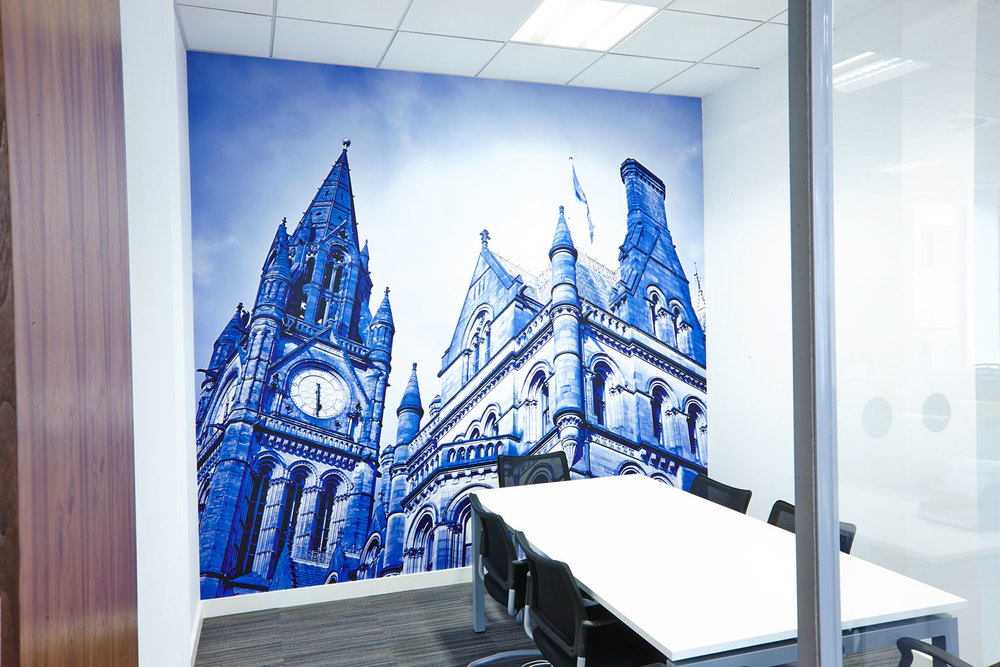 Bespoke Photographic Wall Mural   Project:   Pulse Manchester