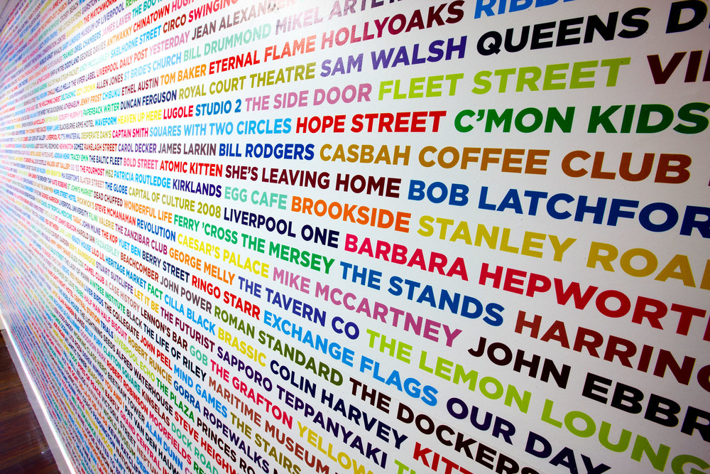 Bespoke Typographic Wall Mural   Project:  LILA* Liverpool