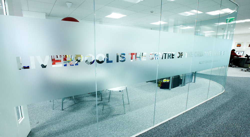 Bespoke Glass Manifestation  Project:  LILA* Liverpool
