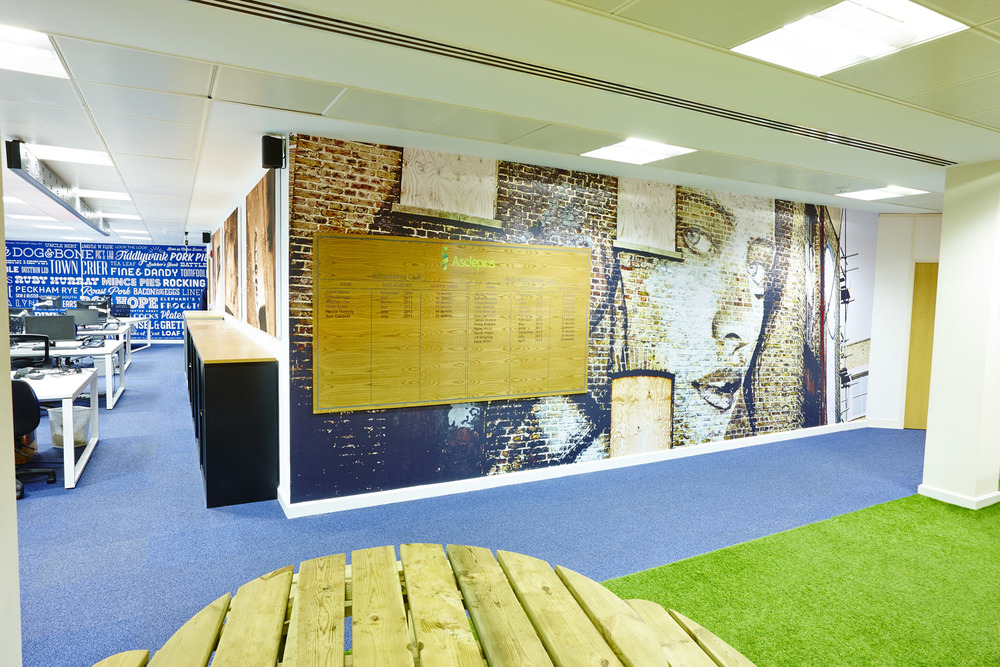 Bespoke 'seamless' Wall Mural  Project:  Asclepius Global