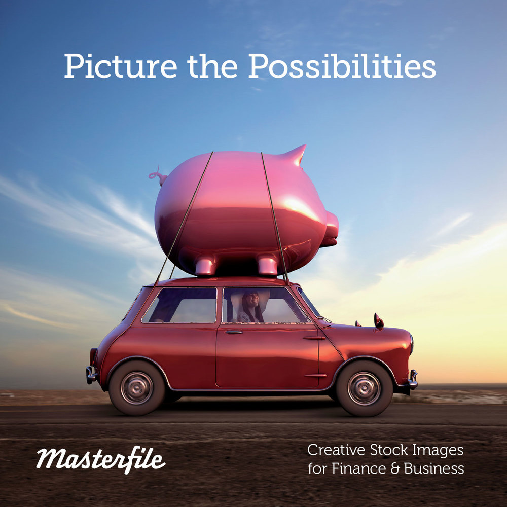 Cover Image: Pacific Islander driving vintage car with piggy bank on top © Blend Images / Masterfile