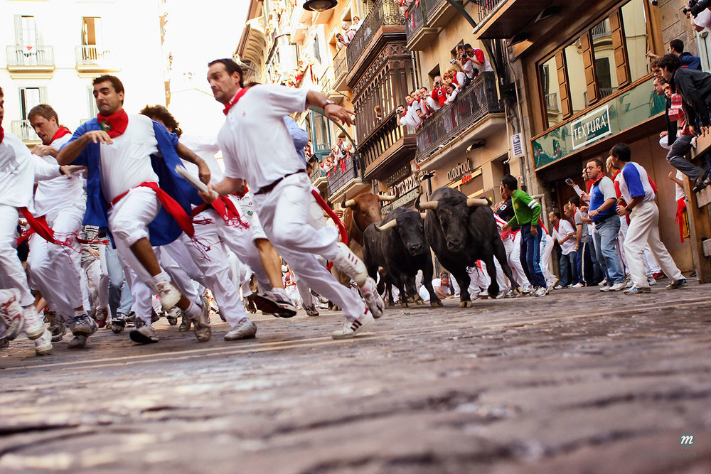 Running of the Bulls in Pamplona, Spain  © Mike Randolph / Masterfile