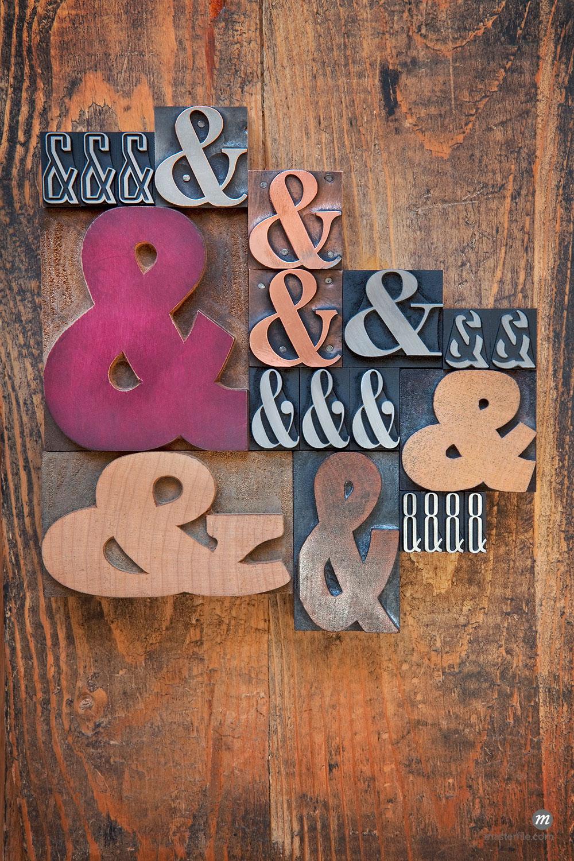 Letterpress Ampersands ©Daryl Benson / Masterfile