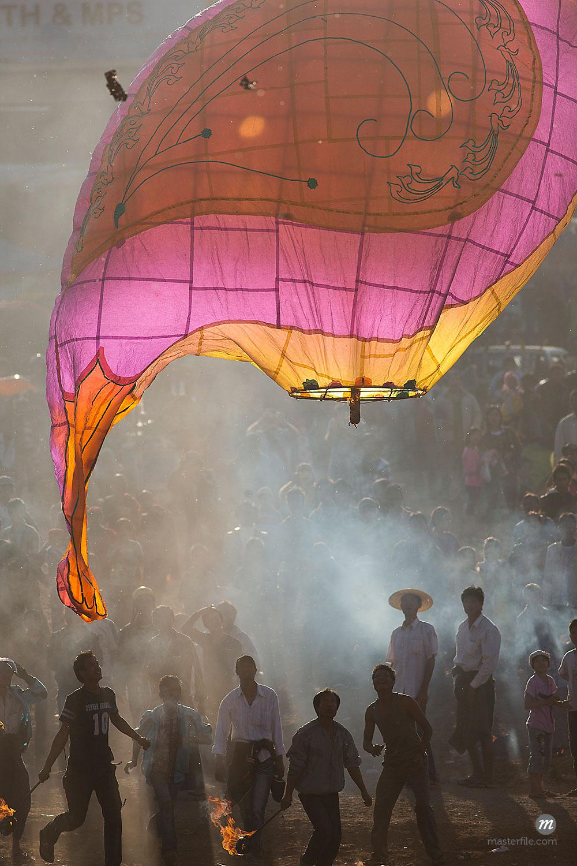 Lu Ping Festival or Fire Balloon Festival, Taunggyi, Myanmar  © Albert Normandin / Masterfile