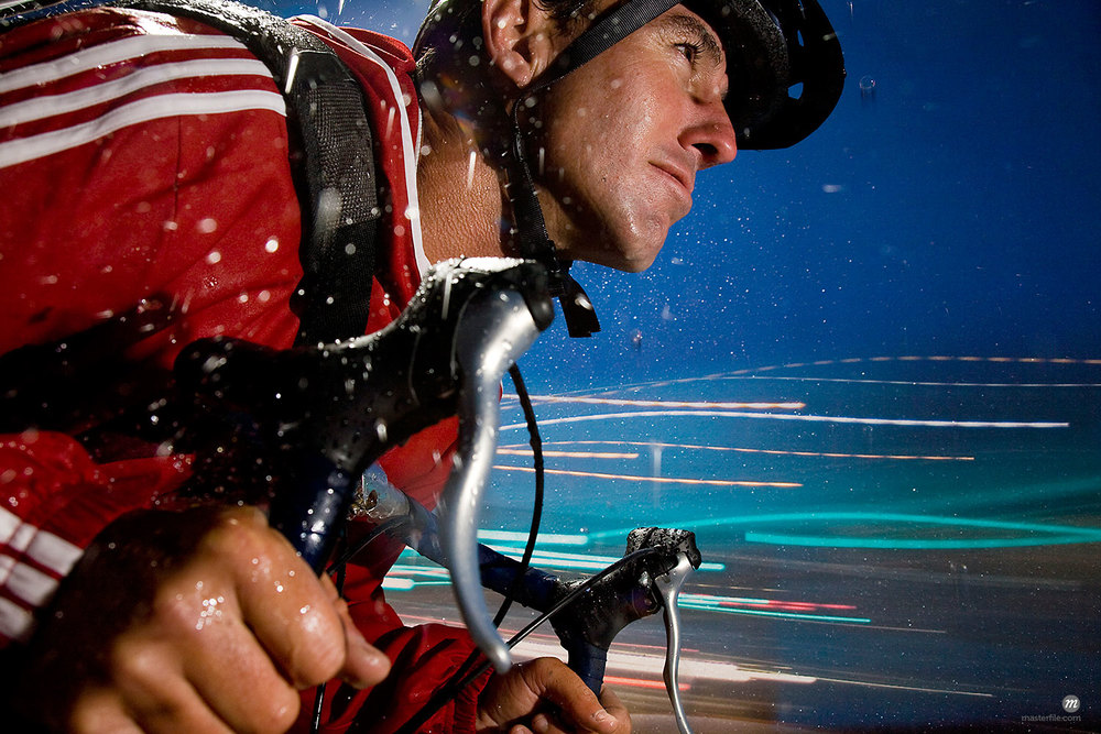 Portrait of bike courier  © Michael Eudenbach / Masterfile