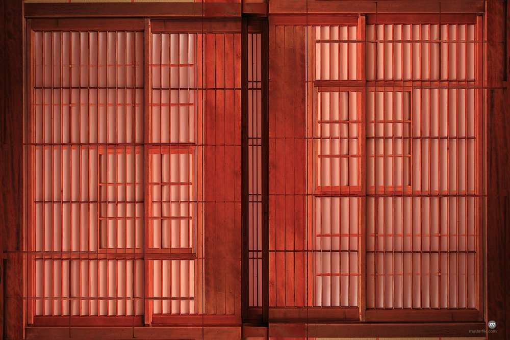 Full Frame View of Traditional Japanese Sliding Door © Masterfile