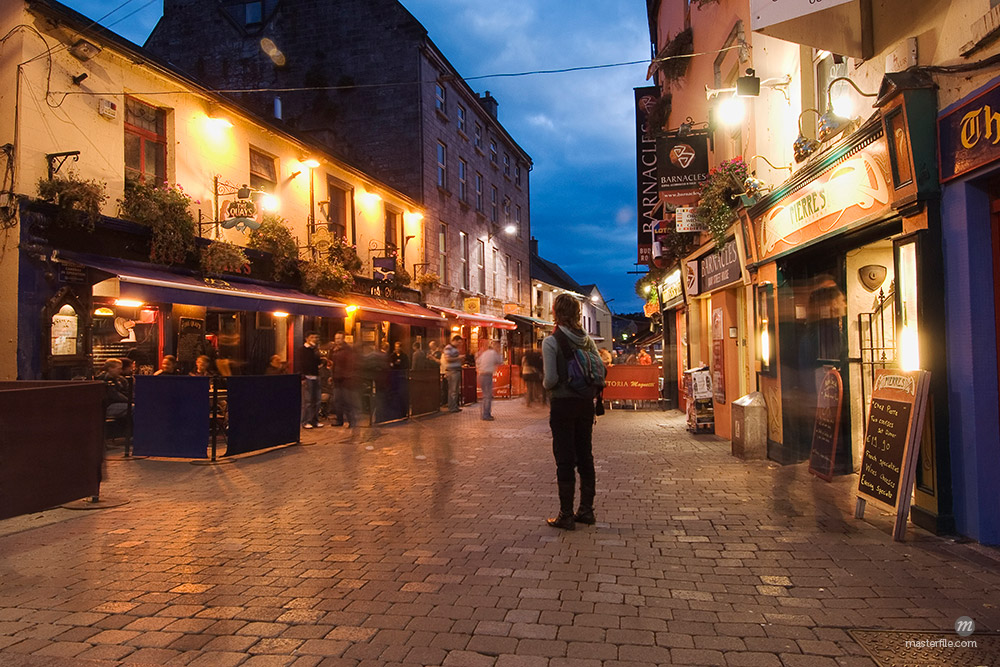 Corner of High and Mainguard Streets, Galway, County Galway, Ireland © Lalove Benedict / Masterfile