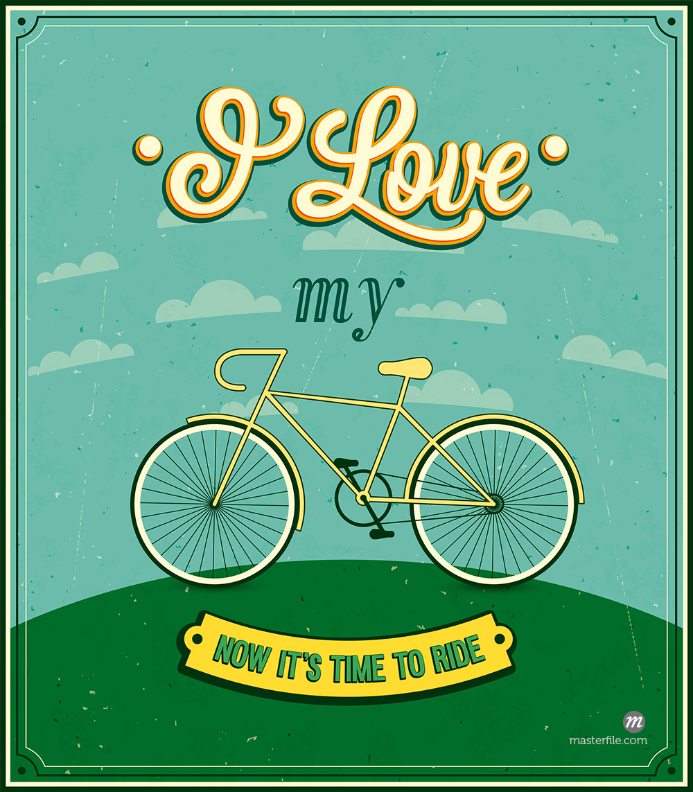 Vintage background with bicycle © MiloArt / Masterfile