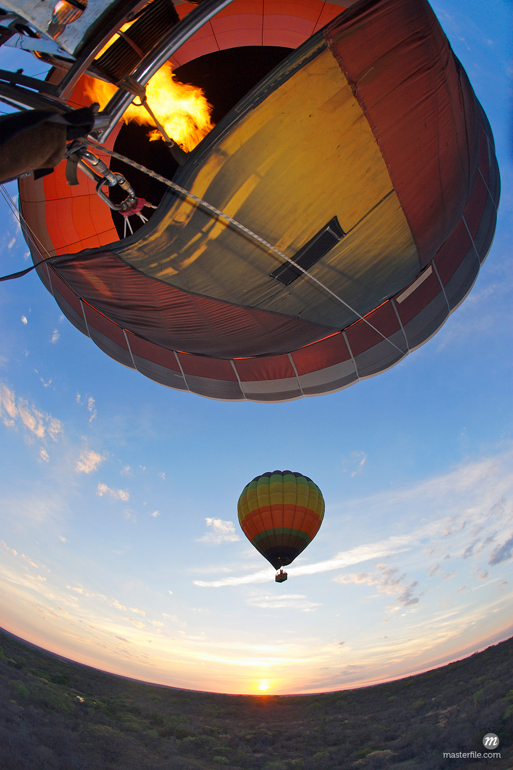 View from Hot Air Balloon at Sunrise © Masterfile