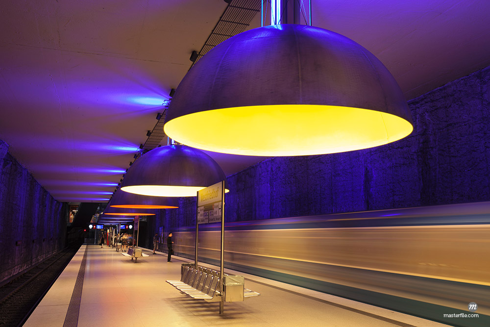 Subway station Westfriedhof, Munich, Bavaria, Germany, Europe © robertharding / Masterfile