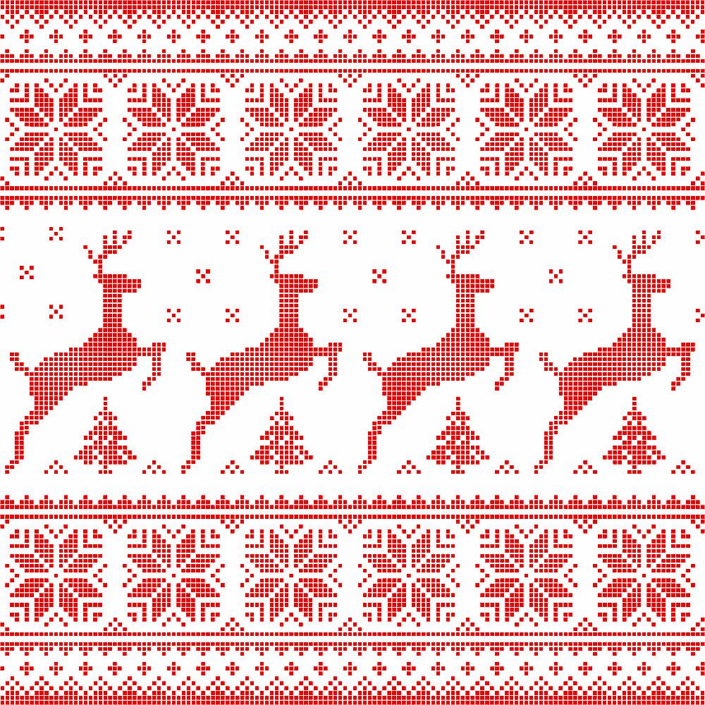 Vector Scandinavian embroidery style © RedKoala / Masterfile