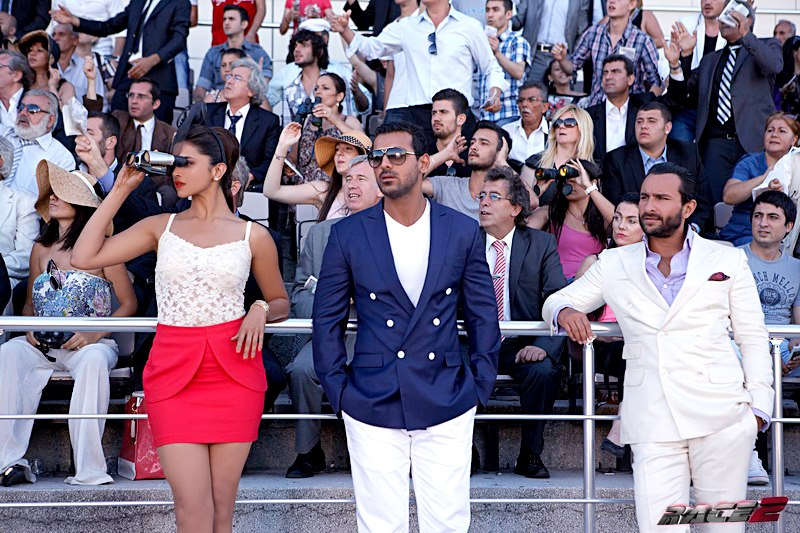 Deepika Padukone, John Abraham and Saif Ali Khan in  Race 2