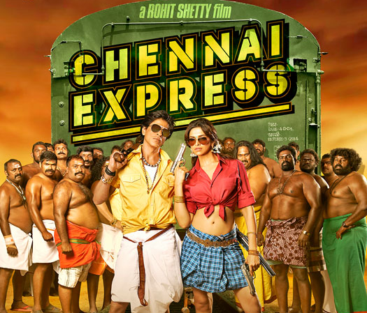 Shah Rukh Khan and Deepika Padukone in Rohit Shetty's Chennai Express