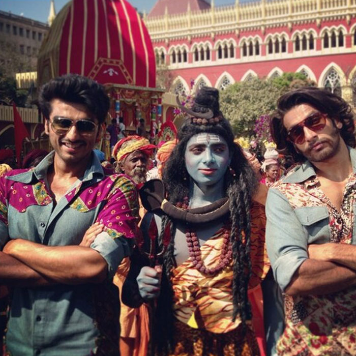 Ranveer Singh & Arjun Kapoor on the sets of <i>Gunday</i>