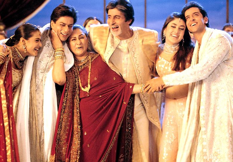 Amitabh Bachchan, Jaya Bachchan, Shah Rukh Khan, Kajol, Hrithik Roshan and Kareena Kapoor in  Kabhi Khushi Kabhie Gham...  (2001)