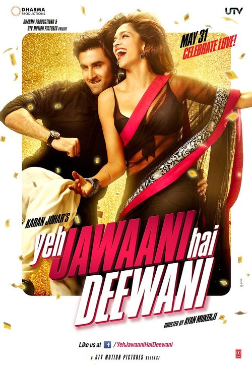 Ranbir Kapoor & Deepika Padukone in <i>Yeh Jawaani Hai Deewani</i>