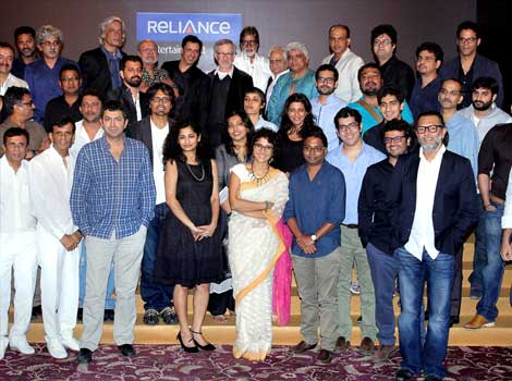 Spielberg with Bollywood Film Fraternity