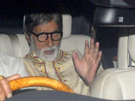 Amitabh Bachchan at Anil Ambani's bash