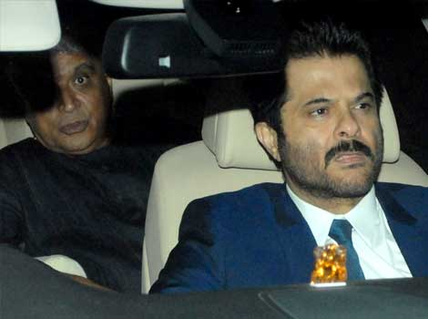 Anil Kapoor & Javed Akhtar at Anil Ambani's bash