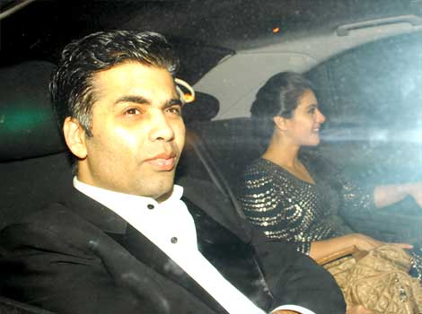 Karan Johar & Kajol at Anil Ambani's bash