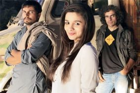 Randeep Hooda, Alia Bhatt and Imtiaz Ali on the sets of Highway