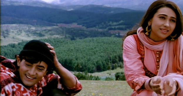 Aamir-Karisma in Raja Hindustani