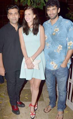 Karan Johar, Kalki Koechlin & Aditya Roy Kapur