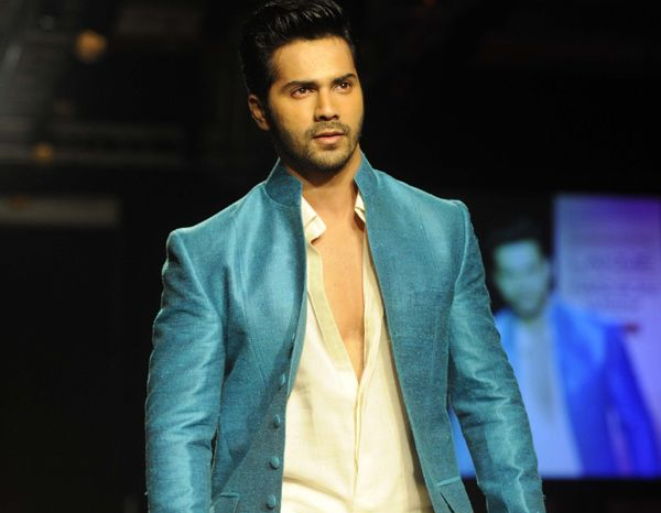 Varun Dhawan walks the ramp at a recent event