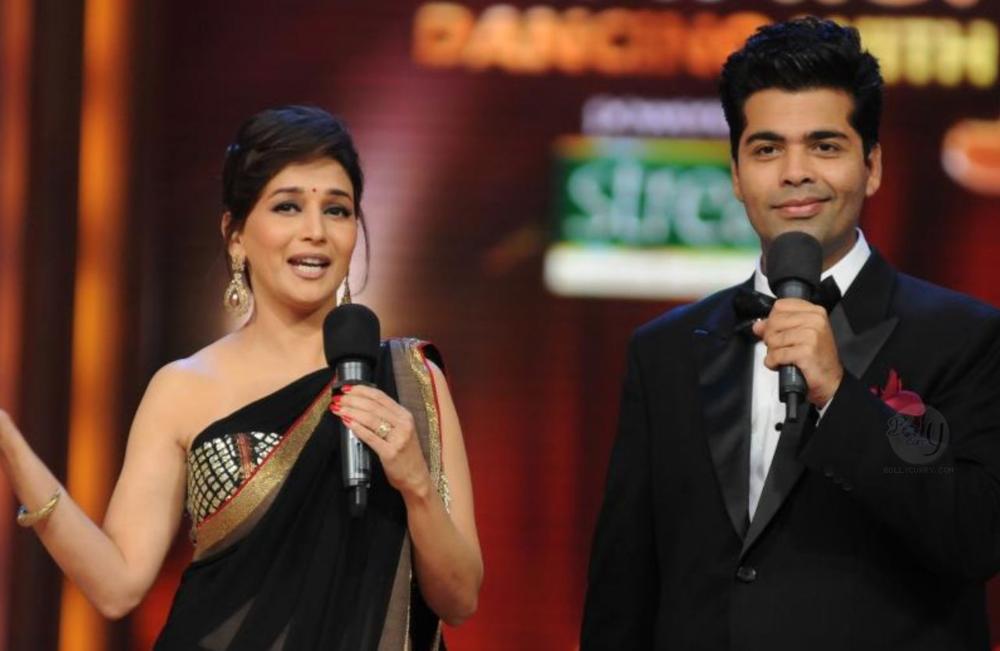 Karan-Madhuri on the sets of the TV show Jhalak Dikhla Jaa
