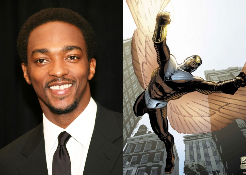 Anthony Mackie will be playing the comic book character The Falcon in the anticipated sequel