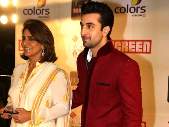 Ranbir and Neetu Kapoor at a recent awards ceremony