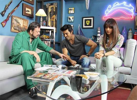 Sanjay Dutt, Ram Charan Teja and Priyanka Chopra in Zanjeer