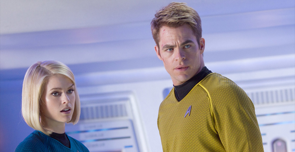 Alice Eve and Chris Pine in Star Trek Into Darkness