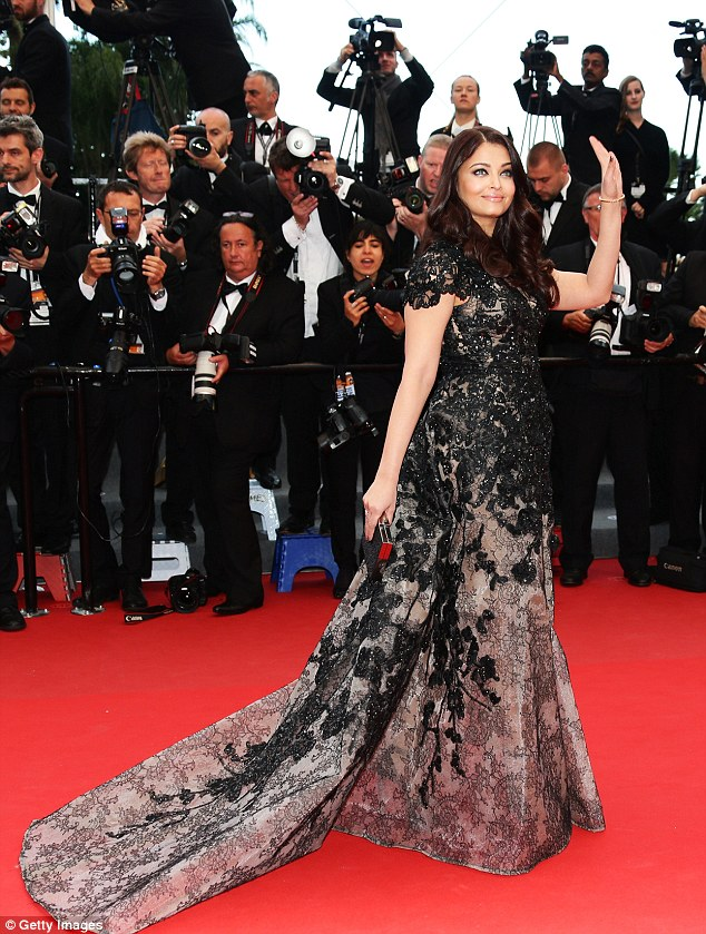 Rai Bachchan in an Elie Saab gown at Cannes 2013