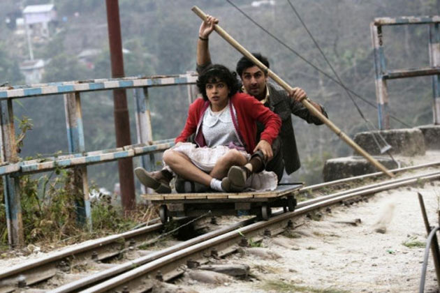 Ranbir Kapoor and Priyanka Chopra in  Barfi!
