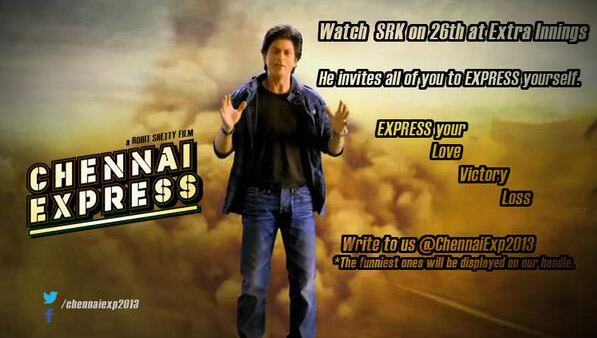 SRK will promote his upcoming  Chennai Express  during the IPL finals