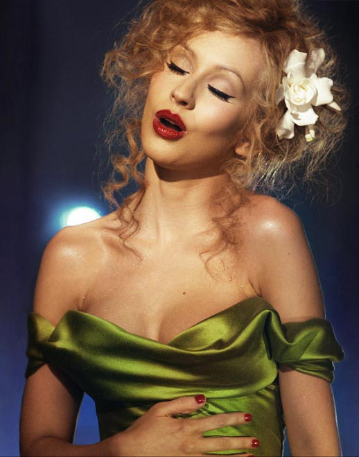 Christina Aguilera  brings a balance of sultry sass with provocative dominatrix in her film debut  Burlesque