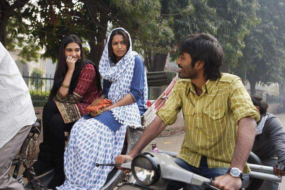 Sonam and Dhanush in a scene from  Raanjhanaa