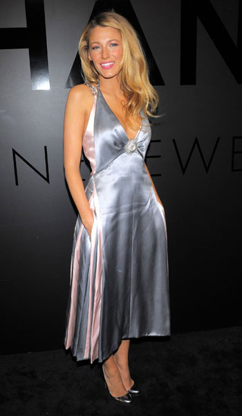 Blake Lively at Chanel's jewellery party in Chanel, Oct 2012