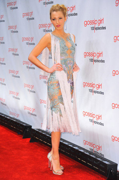 Blake Lively at Marchesa in at Gossip Girl's 100 episodes party, Jan 2012