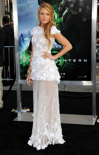Blake Lively in Chanel at the Green Lantern premiere, June 2011