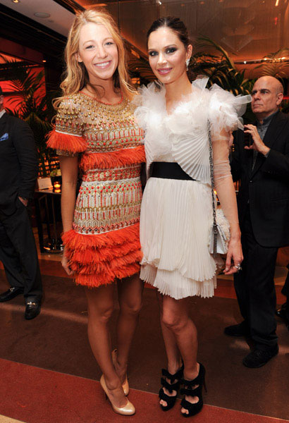Blake Lively in Marchesa at a Marchesa party, April 2011