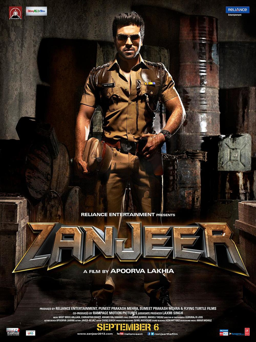 Theatrical poster:  Zanjeer