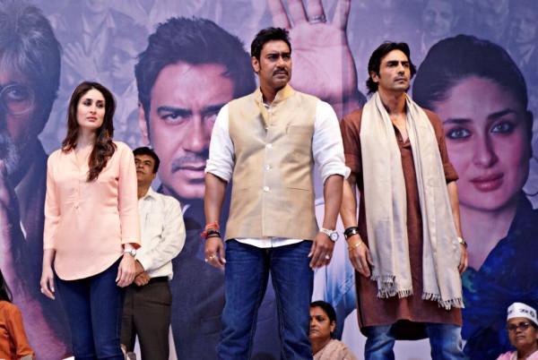 Kareena-Ajay-Arjun in  Satyagraha