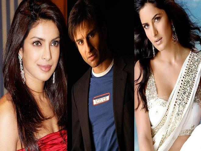 Katrina Kaif and Priyanka Chopra are in the running to star opposite Saif Ali Khan