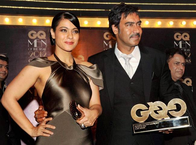 Ajay-Kajol at a recent award ceremony