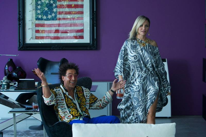 Javier Bardem and Cameron Diaz in  The Counsellor