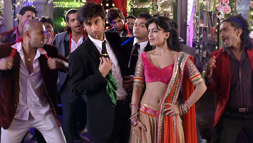 Ranbir Kapoor and Pallavi Sharda in  Besharam