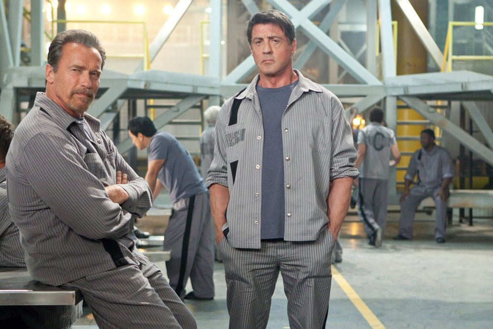 Sylvester Stallone and Arnold Schwarzen egger in Escape Plan