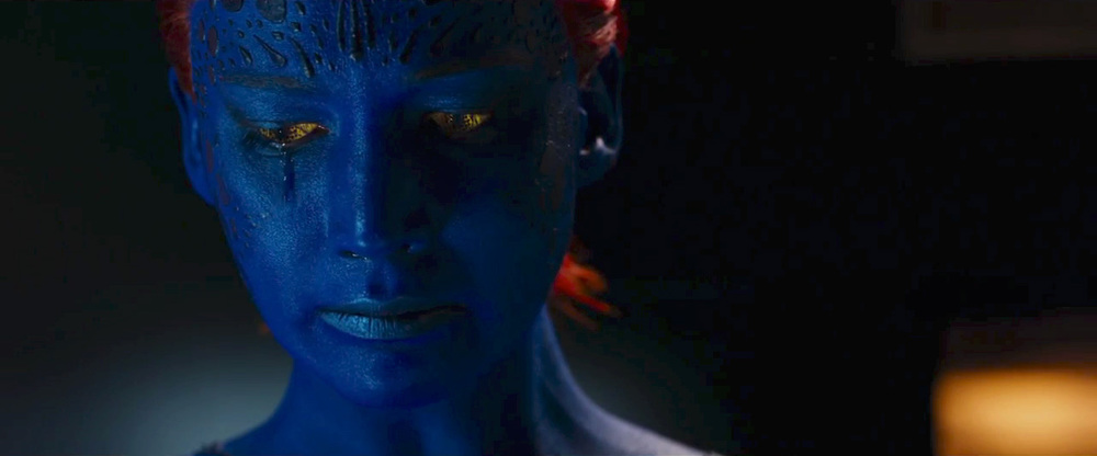 Oscar winner Jennifer Lawrence returns as the younger Mystique